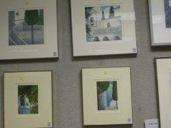 Seven Framed Prints of Views of Greece