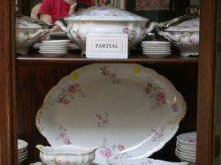 Ninetysix Piece Limoges Rose Transfer Pattern Porcelain Partial Dinner Service