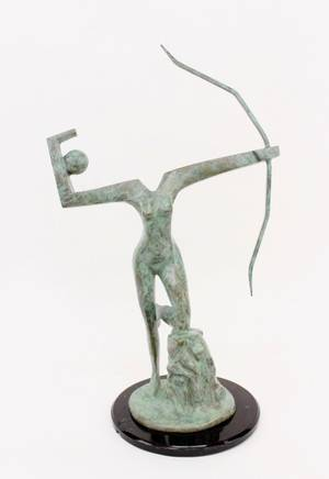 Metal Modern Figural Sculpture Signed  Numbered