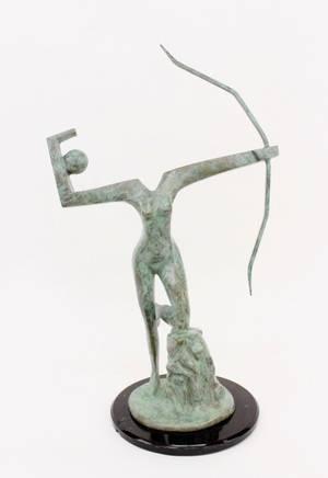 Metal Modern Figural Sculpture Signed  Numbered