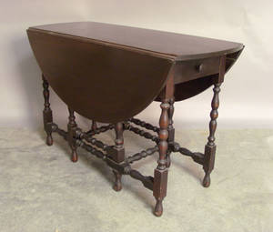 William  Mary style mahogany gateleg table by Madox