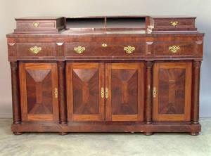 New England Empire mahogany sideboard