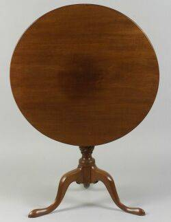 Chippendale Mahogany Tilttop Tea Table