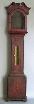 Pennsylvania stained pine tall clock case