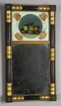 Classical Painted and Gilt Split Baluster Mirror