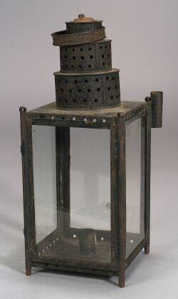 Tin and Glass Lantern