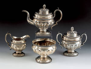 New York fourpiece silver tea service ca 1825