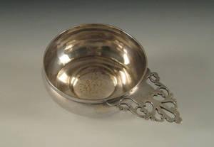 Philadelphia silver porringer ca 1755