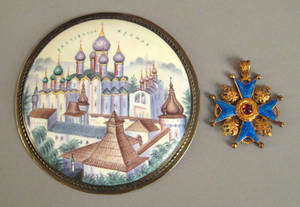Russian painted enamel of the Kremlin