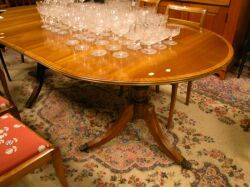 Mahogany Tilttop Double Pedestal Dining Table