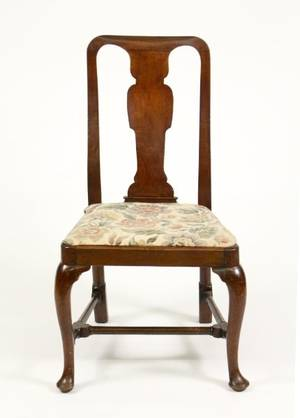 18th C English Queen Anne Style Walnut Side Chair