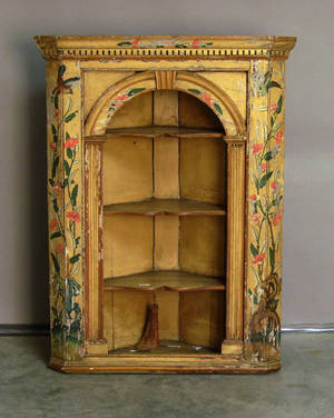 Continental painted corner cabinet 19th c