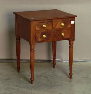 Sheraton cherry and mahogany work stand