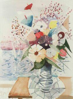 Charles Levier French b 1920 Floral Still Life