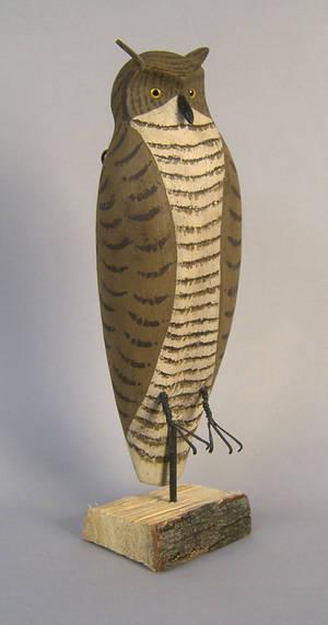 Contemporary owl decoy