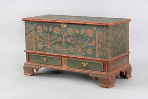 Berks County Pennsylvania painted dower chest dated 1788