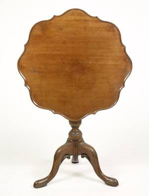 Georgian Mahogany Tilt Top Piecrust Table