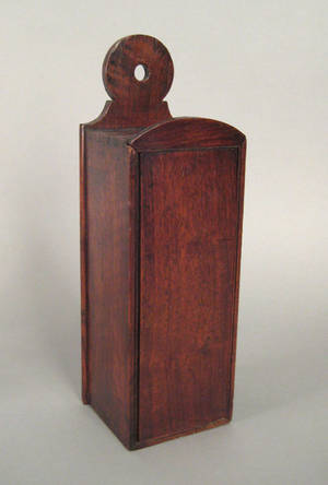 English walnut candlebox late 18th c
