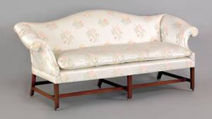 George III mahogany sofa ca 1770