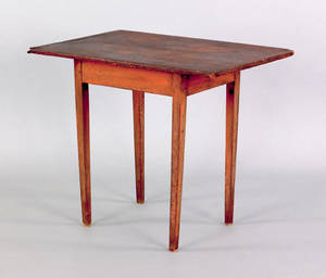 New England pine work table 19th c