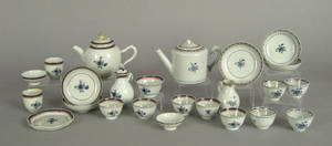 Two Chinese export porcelain miniature tea services 19th c