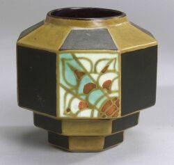 Boch Freres Art Deco Ceramic Vase