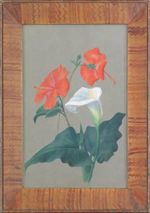 Pennsylvania painted pine frame 19th c