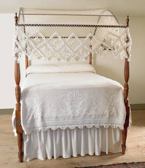 New England Sheraton birch canopy bed early 19th c
