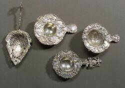 Group of Eight Dutch Decorative Silver Serving Pieces