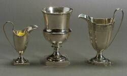 Three English Sterling Silver Table Articles