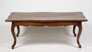Louis XV Style Marquetry Inlaid Walnut Low Table