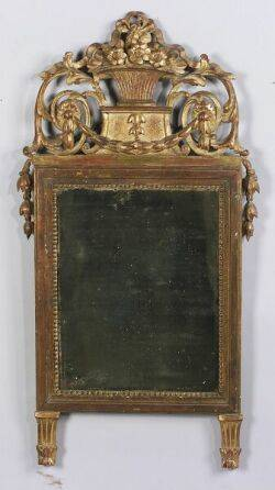 French Louis XVIstyle Giltwood Mirror