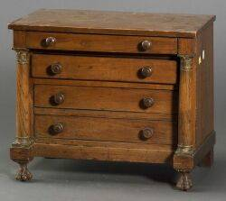 French Empirestyle Miniature Fruitwood Chest of Drawers