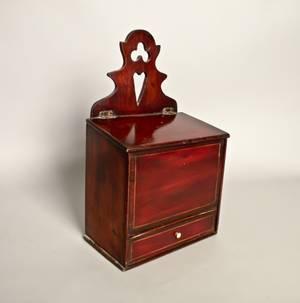 English mahogany hanging box