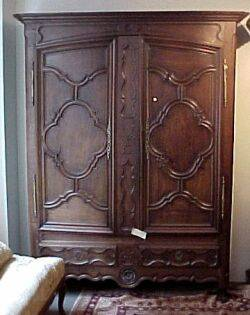 Rococostyle Oak Two Door Armoire