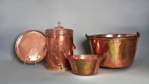 Copper apple butter kettle