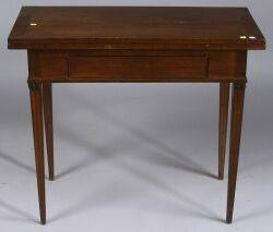 French Directoire Mahogany Game Table