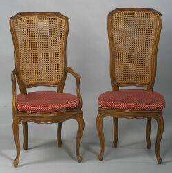 Set of Five Louis XV style Dining Chairs