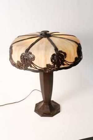 Bradley  Hubbard Style Slag Glass Lamp