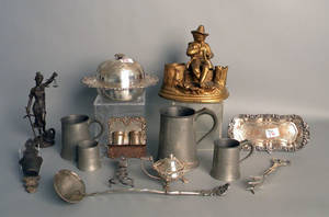 Metalware to include pewter measures