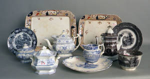 Group of Staffordshire and transfer decorated wares