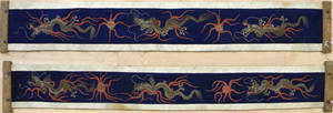 Pair of Chinese embroidered wall hangings