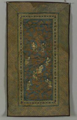 Three Chinese Embroidered and Woven Textile Panels
