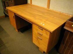 Scandinavian Modern Teak Flattop Desk