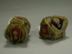 Two Woodlands Beaded Cloth Whimsies and a Group of Ethnographic Items