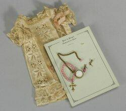 Lacy Chemise Dress and Pink Jewelry for a French Bebe
