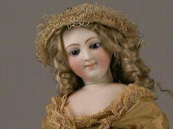 Smiling Bisque SwivelNeck Lady Doll Attributed to Alexandre Dehors