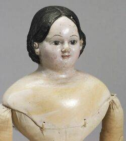 Early Papiermache Greiner with Molded Teeth