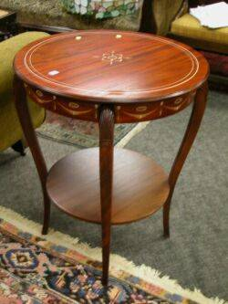 Neoclassicalstyle Inlaid Mahogany Veneer Occasional Table