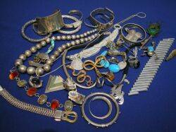 Group of Sterling Ethnic and Costume Jewelry